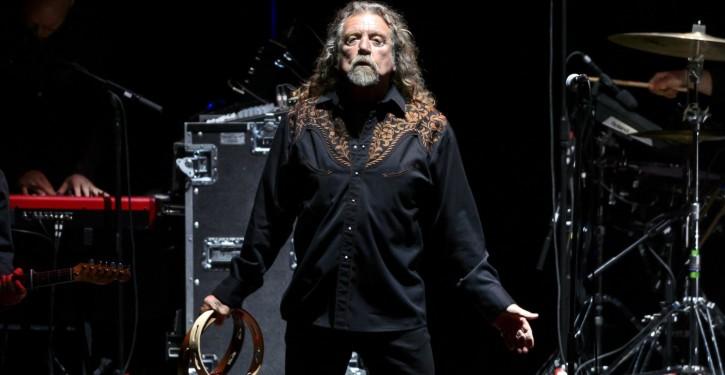British singer Robert Plant performs during the 40th Paleo Festival on July 25, 2015 in Nyon, the biggest open-air festival in Switzerland and one of Europe's major musical events. AFP PHOTO / FABRICE COFFRINI        (Photo credit should read FABRICE COFFRINI/AFP/Getty Images)