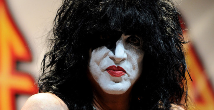 """WEST HOLLYWOOD, CA - MARCH 17:  Musician Paul Stanley of KISS appears at a press conference to announce the KISS and Def Leppard """"2014 Heroes Tour"""" at House of Blues on March 17, 2014 in West Hollywood, California.  (Photo by Kevin Winter/Getty Images for Live Nation)"""